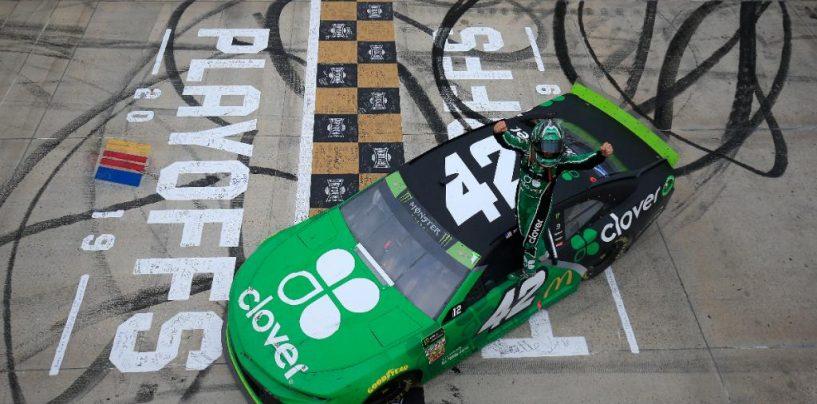 """<span class=""""entry-title-primary"""">NASCAR   Kyle Larson ritorna alla vittoria a Dover dopo due anni!</span> <span class=""""entry-subtitle"""">Il pilota della #42 regala a Chip Ganassi la prima qualificazione al """"Round of 8"""". KO per Penske ed Elliott</span>"""