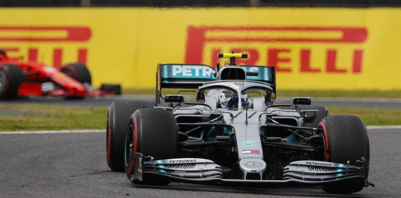 """<span class=""""entry-title-primary"""">F1   GP Giappone: vince Bottas, Mercedes Campione Costruttori per la sesta volta di fila</span> <span class=""""entry-subtitle"""">La Ferrari si piega tra passo ed errori. Vettel 2° davanti a Hamilton, Leclerc finisce 6°</span>"""