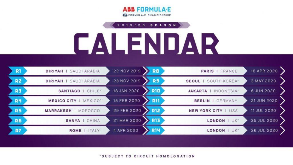 Formula E | Rivisto il calendario: fuori Hong Kong, dentro Marrakech 1