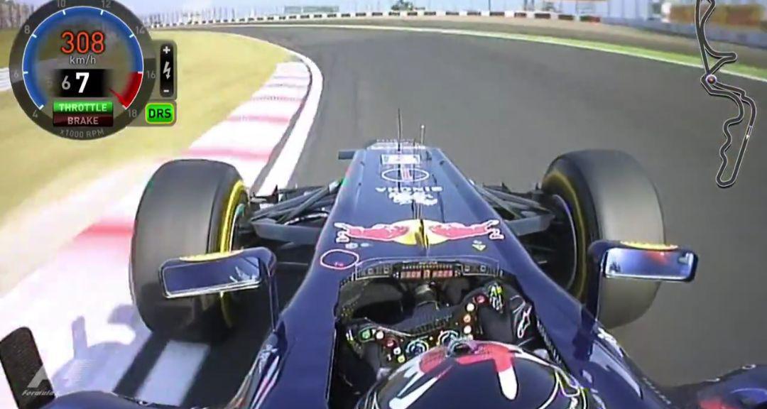 Suzuka 2011: Vettel e la 130R con il DRS spalancato