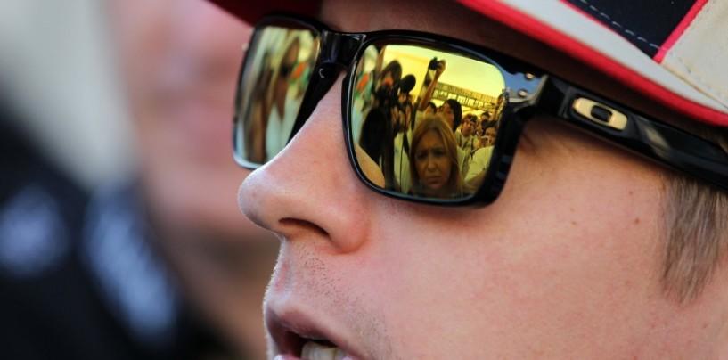 Kimi Raikkonen al lavoro sul simulatore a Maranello