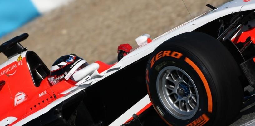 Presentata la Marussia MR03 a Jerez, con Chilton subito in pista