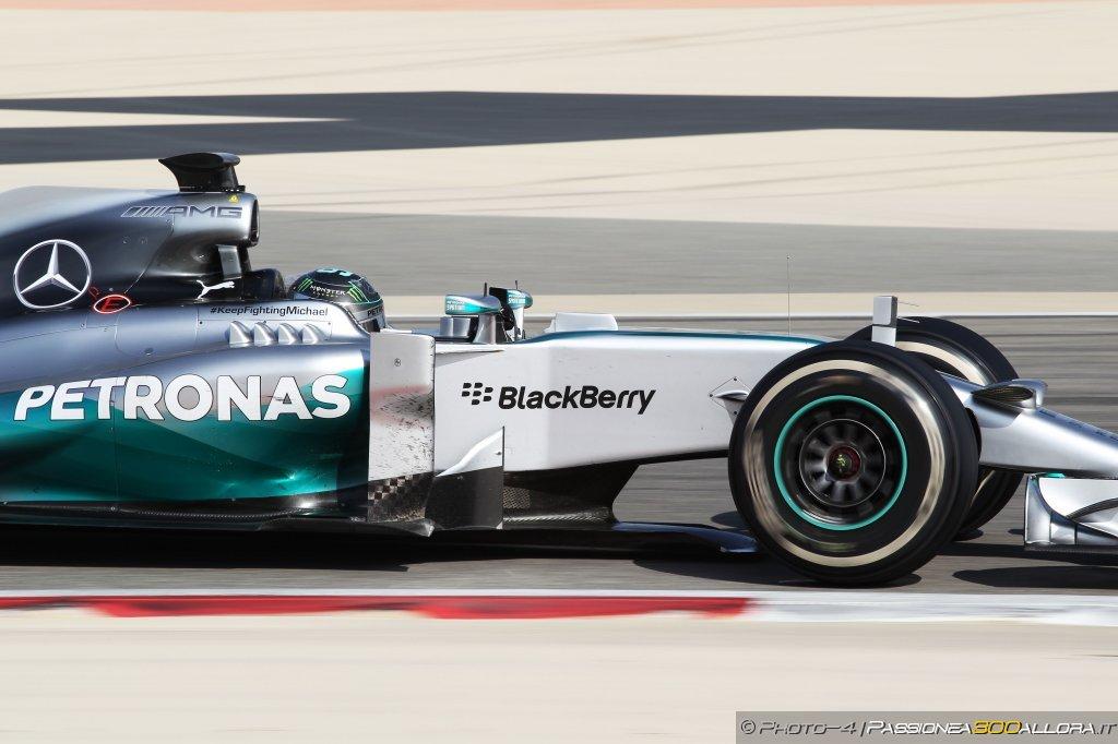 Test Bahrain, giorno 1: Rosberg davanti a tutti