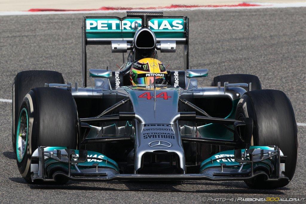 Hamilton al comando nell'ultima giornata di test in Bahrain