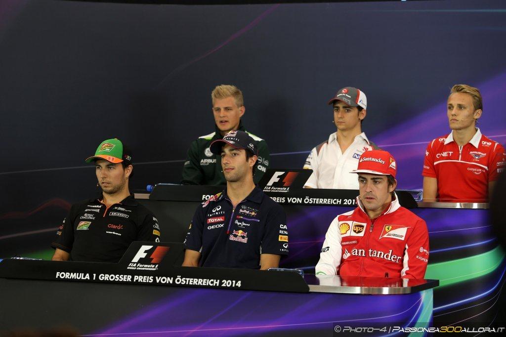 GP d'Austria: la conferenza stampa dei piloti