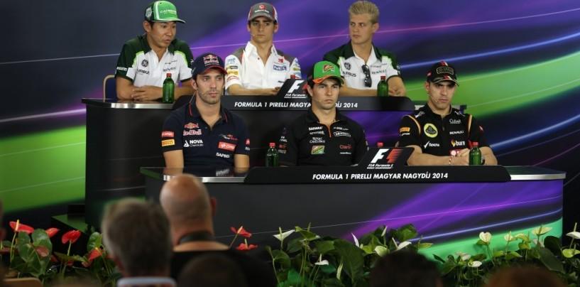 GP d'Ungheria: la conferenza stampa del giovedì