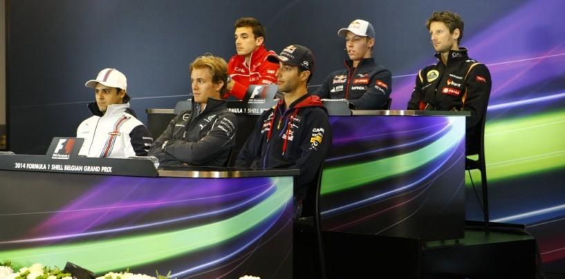 GP del Belgio: la conferenza stampa del giovedì