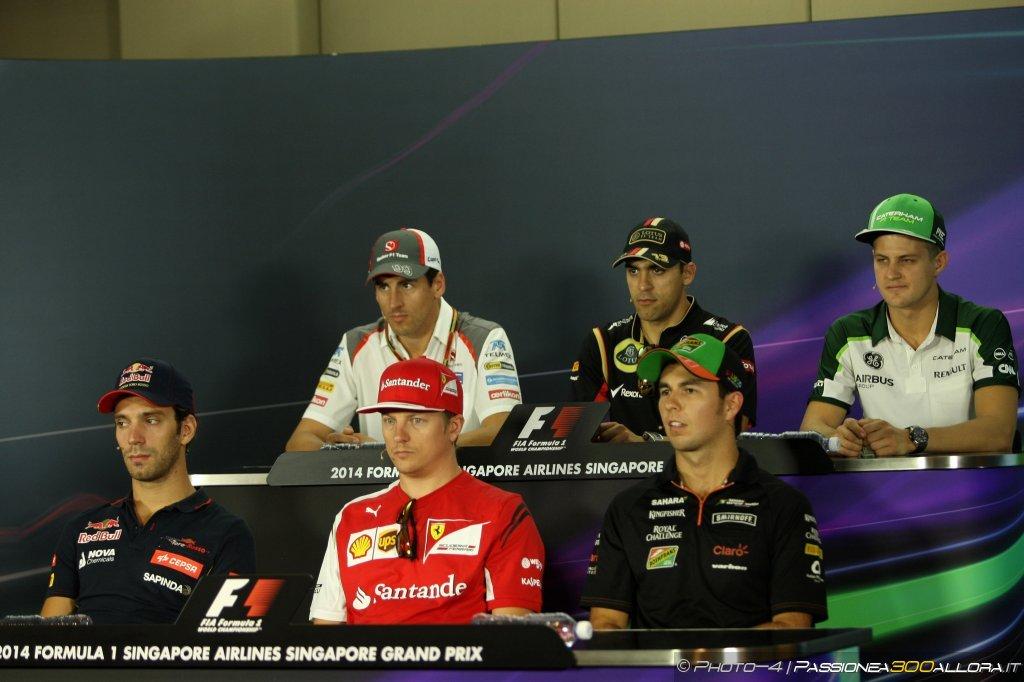 GP Singapore: la conferenza stampa dei piloti