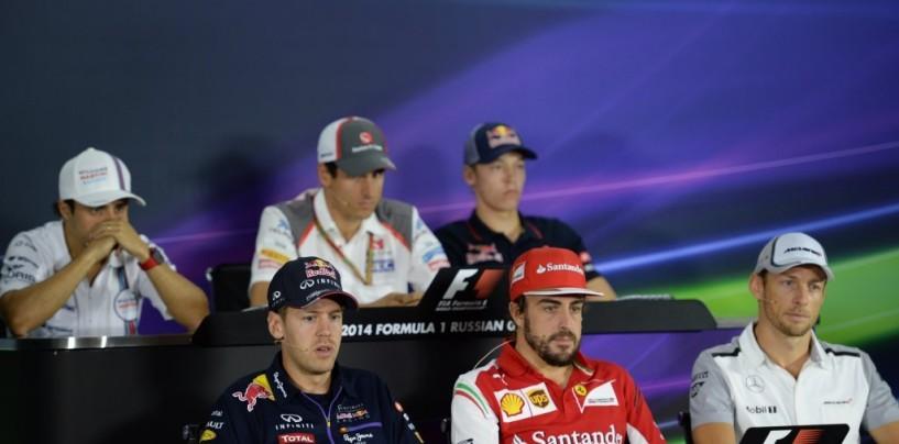 GP di Russia: la conferenza stampa dei piloti