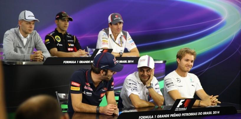 GP del Brasile: la conferenza stampa dei piloti