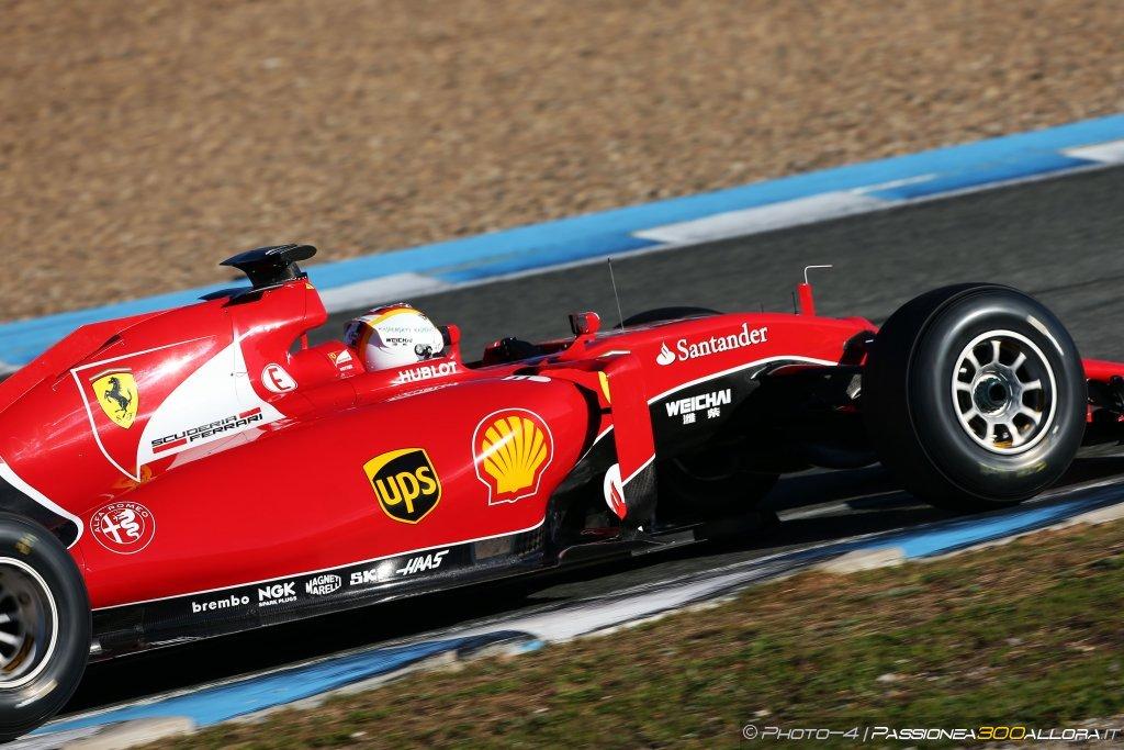 Prima giornata di test a Jerez: Vettel davanti a tutti con la Ferrari