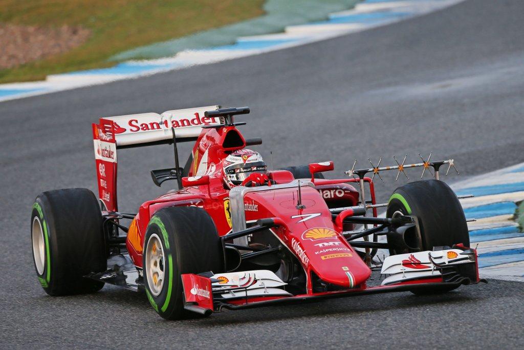 Test F1, Jerez, miglior tempo per Raikkonen a metà giornata