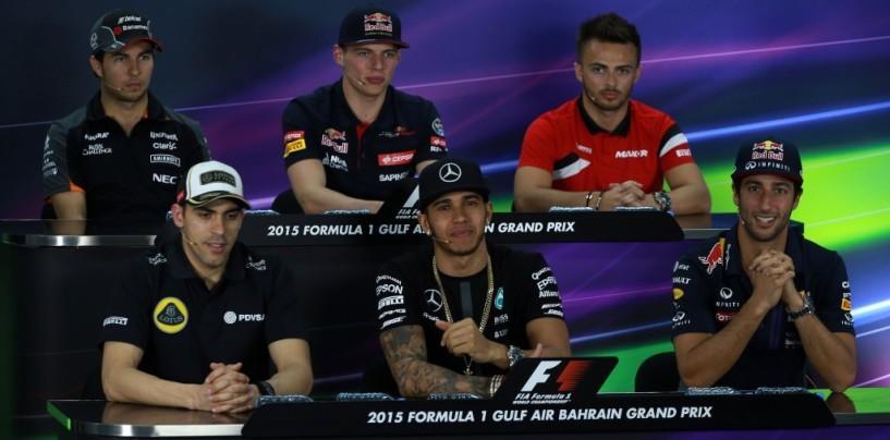 GP del Bahrain: la conferenza stampa del giovedì