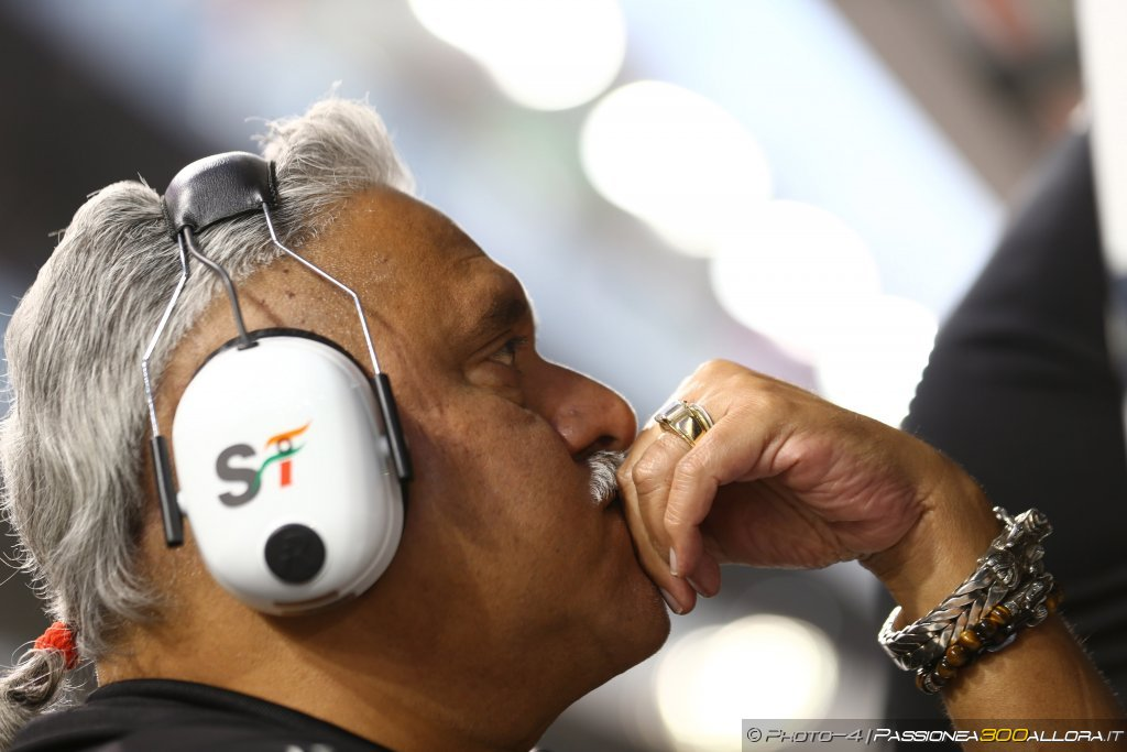 F1 | Force India, Mallya: ci aspettavamo di più da questa stagione