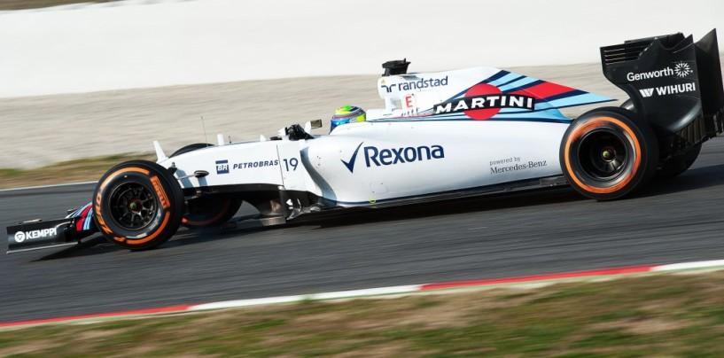 Felipe Massa il più veloce nella prima giornata di Barcellona
